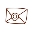 Hand Drawn Envelope vector image