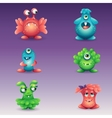 Set of colored cartoon monsters different vector image