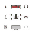 game accessories for gamers vector image