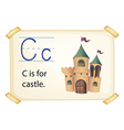 A letter C for castle vector image vector image