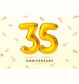 anniversary golden balloons number 35 vector image vector image