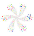 arrow pointer rotation abstract flower vector image vector image