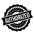 Authorized stamp rubber grunge