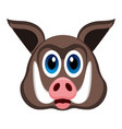 avatar of a wild pig vector image vector image