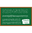 Back to School font vector image