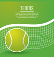 ball and league of tennis sport design vector image