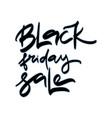 black friday sale sale hand lettering design vector image