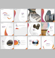 brochure templates with trendy colorful circles vector image vector image