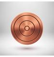 Bronze Technology Circle Metal Badge vector image