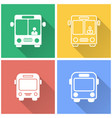 bus - icon vector image vector image