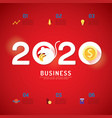 business calendar 2020 concept chinese rat year vector image