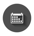 calendar icon on agenda icon in flat style with vector image vector image