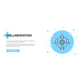 collaboration icon banner outline template vector image vector image