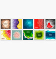 collection 10 backgrounds with colorful paper vector image vector image