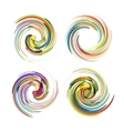 Colorful abstract icon set Dynamic flow vector image vector image