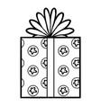 coloring book gift vector image vector image