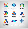 company and technology logo collection template vector image vector image