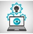 computer security idea social network concept vector image vector image
