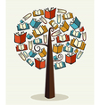 Concept books tree vector image vector image