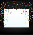 confetti with white display board vector image