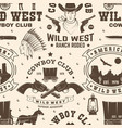 cowboy club seamless pattern background vector image vector image