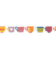 cups seamless border repeating mugs vector image