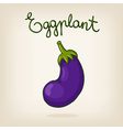cute hand drawn shiny eggplant vector image vector image