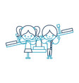 cute kids in childish games characters icon vector image
