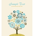 Cute ornate tree vector image vector image