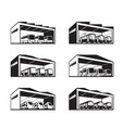 depot for various types public transport vector image vector image