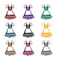 dirndl icon in black style isolated on white vector image vector image