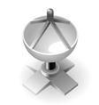 Dish-shaped antenna vector image vector image