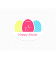 Easter eggs Easter eggs icons flat style Easter vector image vector image