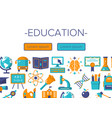 education colorful banner vector image vector image