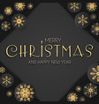 elegant christmas background with gold shining vector image