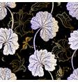 elegant seamless vintage pattern of leafs vector image