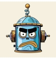 emoticon angry emoji robot head smiley emotion vector image