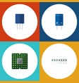 flat icon electronics set of transistor unit vector image vector image