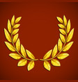 golden olive wreath symbol of victory award vector image