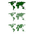 Green world map design vector image vector image