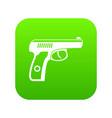 gun icon digital green vector image vector image