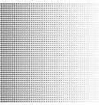 halftone background with disappearing dots vector image