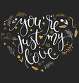 hand drawn inspiration lettering heart shaped vector image vector image