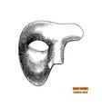 hand drawn venetian carnival mens mask vector image vector image