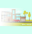 ideal house design flat vector image