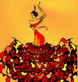image of flamenco dancer girl vector image vector image