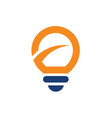 light bulb with improvement logo vector image vector image