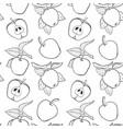 line apple seamless pattern vector image