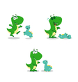 little funny dinosaurs vector image vector image