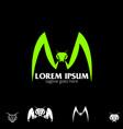 m letter based mantis symbol vector image vector image